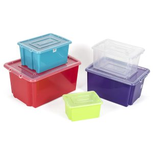 coloured plastic containers